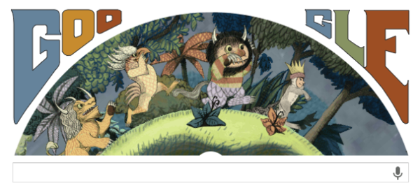 Google Doodle Tribute to Maurice Sendak, Author of 'Where the Wild Things Are'