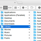 The OS X library IS still there... Just hidden.