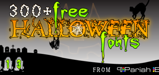 300 Free Halloween Fonts 2013 Edition