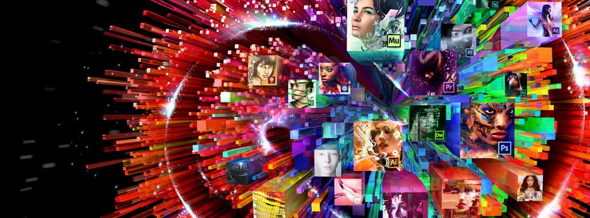The 2012 and 2013 branding of Creative Cloud featured box and totem artwork commissioned from artists around the world.