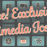 Free! Exclusive! Multimedia Icon Set for Photoshop (PSD) and Illustrator (AI, EPS)